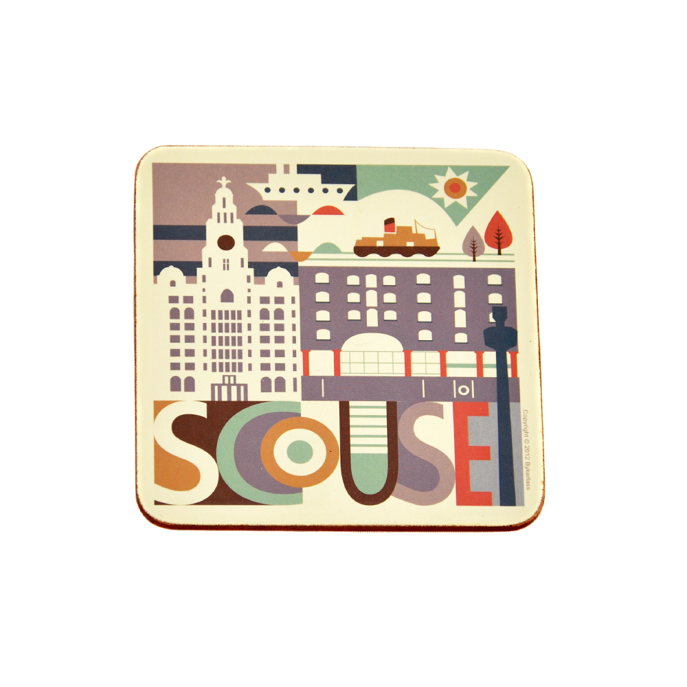 Flat Scouse City Coaster